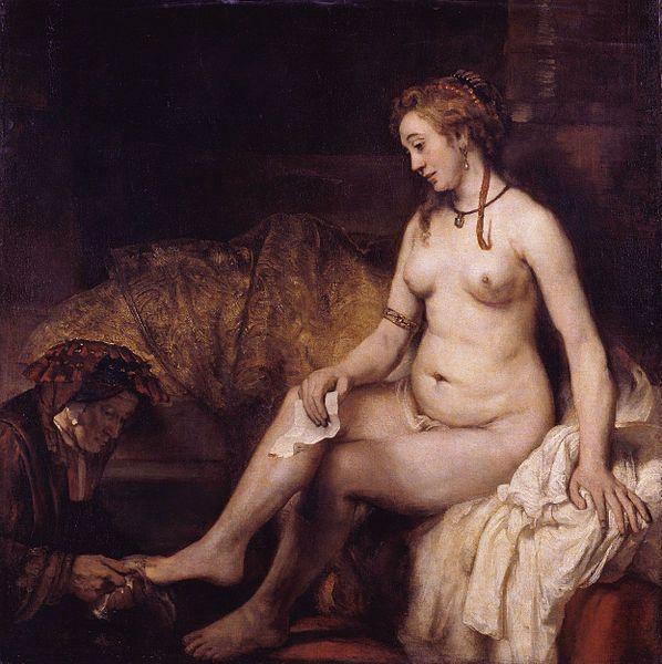 'Bathsheba at her Bath' by Rembrandt (Louvre)
