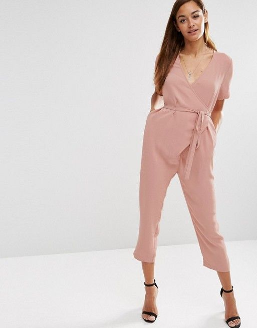 ASOS | ASOS Jumpsuit with Wrap And Self Tie