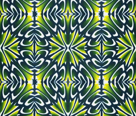 Green and yellow spiky jungle tile fabric by doodlepippin on Spoonflower - custom fabric