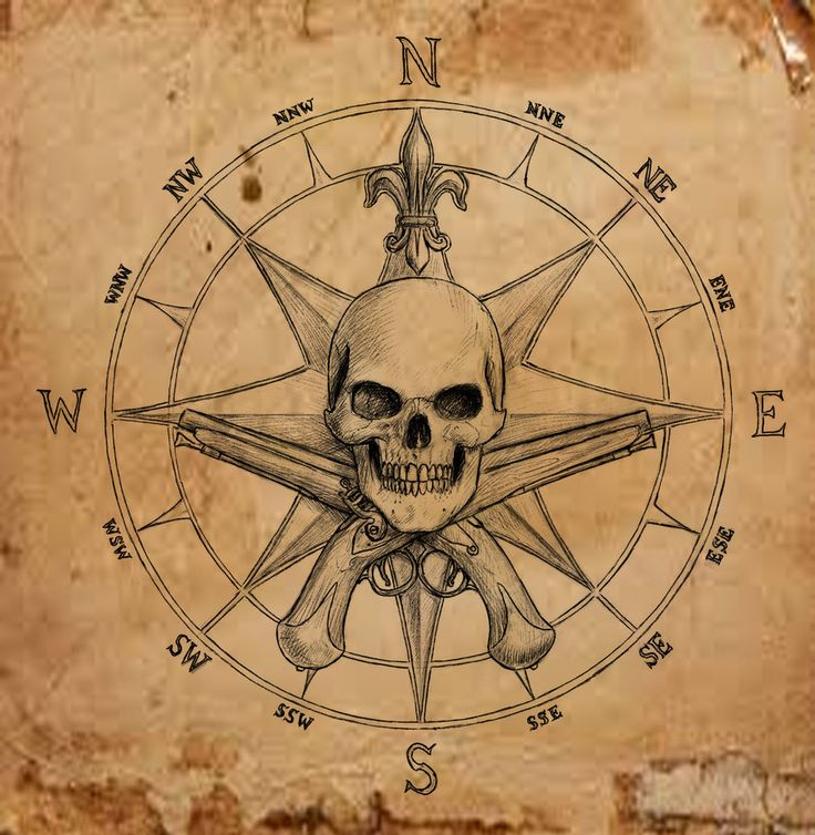 Pirate Compass Tattoo Pirate Compass Symbol by