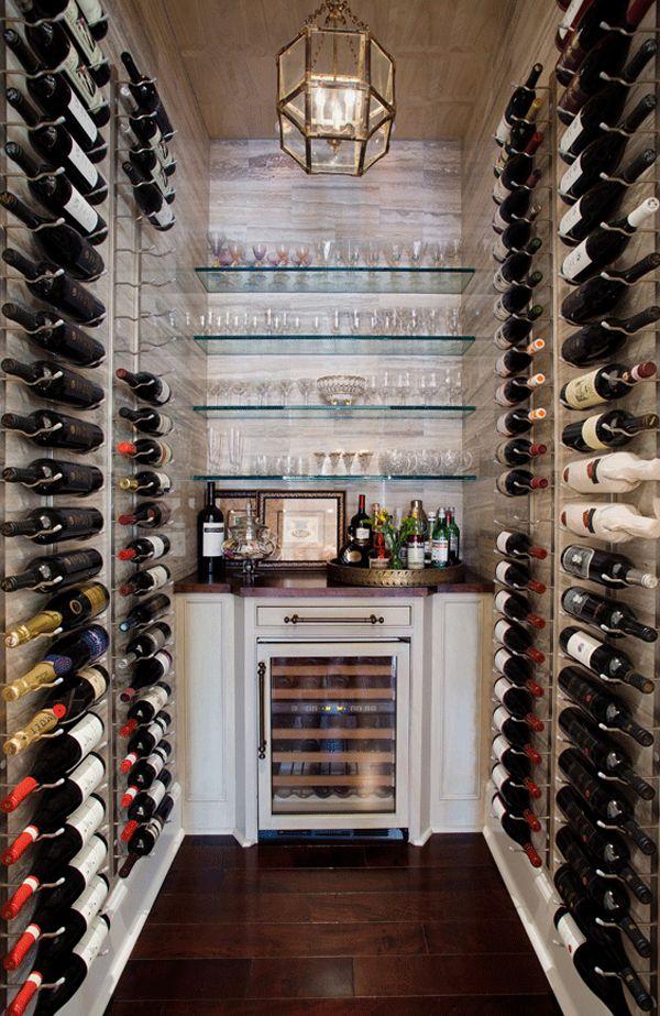 walls of wine!