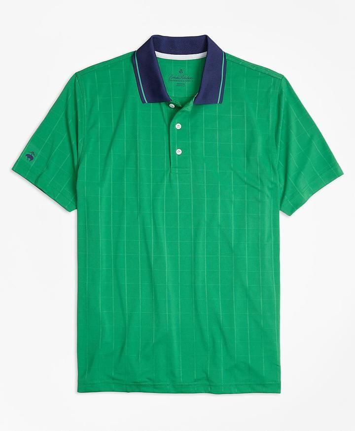 Performance Series Windowpane Jacquard Polo Shirt