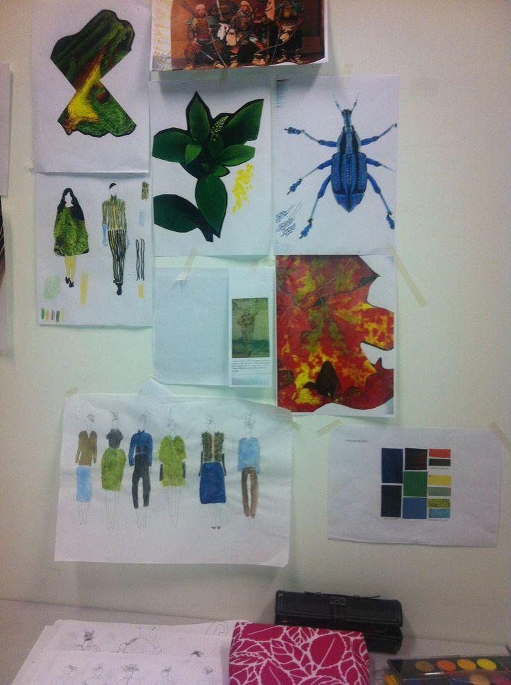 Fashion design mood board by Cordula Opitz