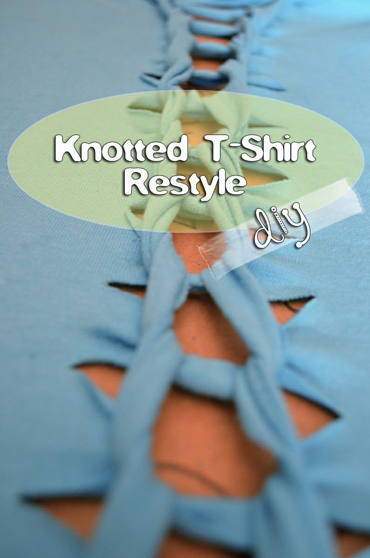 Guess what I just did to my Chet Fest shirt! grrfeisty: Knotted T-Shirt DIY
