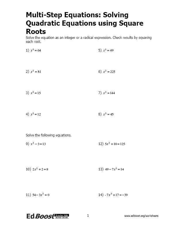 Linear Quadratic Systems Worksheet 1 Quadratics Solving Quadratic Equations Quadratic Equation