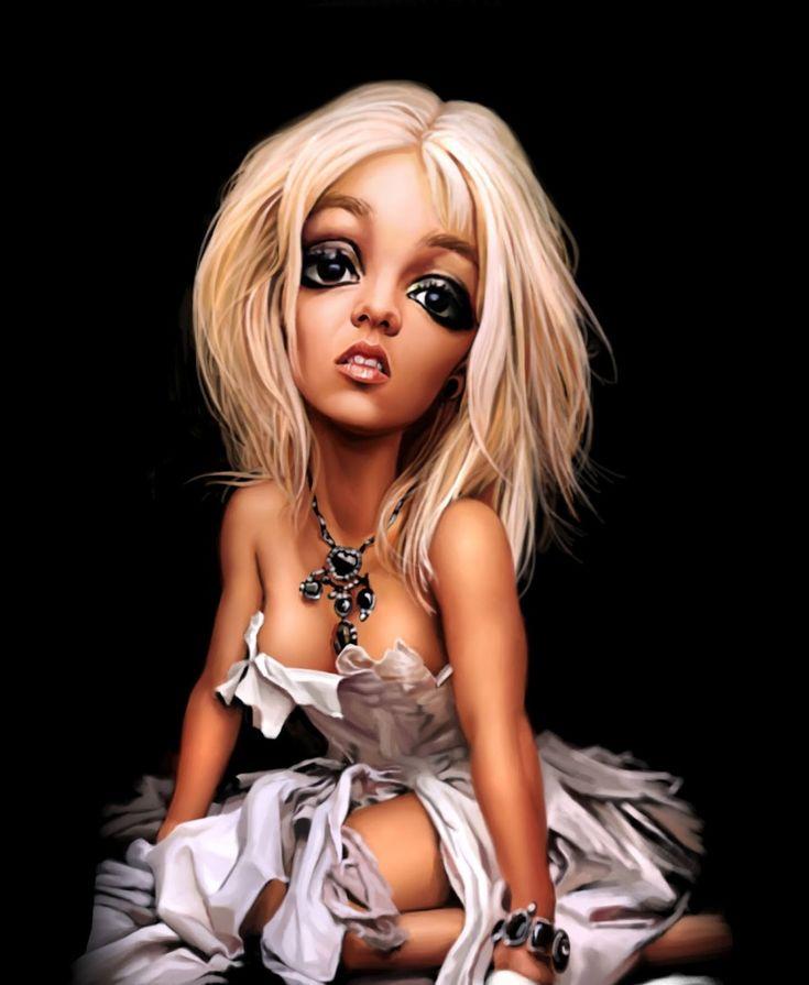 Caricatura de Britney Spears