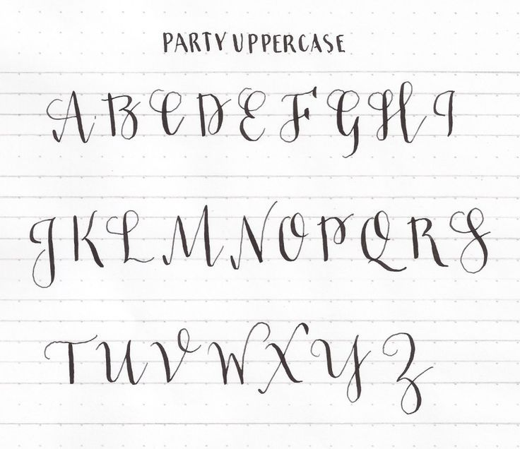 Learn Uppercase Capital Letters Modern Calligraphy Basics Learn Calligraphy Hand Lettering Alphabet Calligraphy