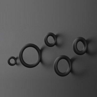 HAY Gym hooks in zwart. www.emma-b.nl