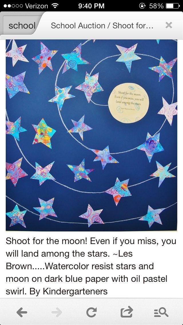Stars auction art - Kindergarten class