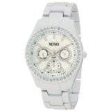 XOXO Women's XO114 Rhinestone Accent White Enamel Bracelet Watch (Watch)By XOXO