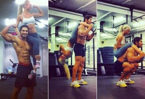 Be fit together. An amazing fitness couple
