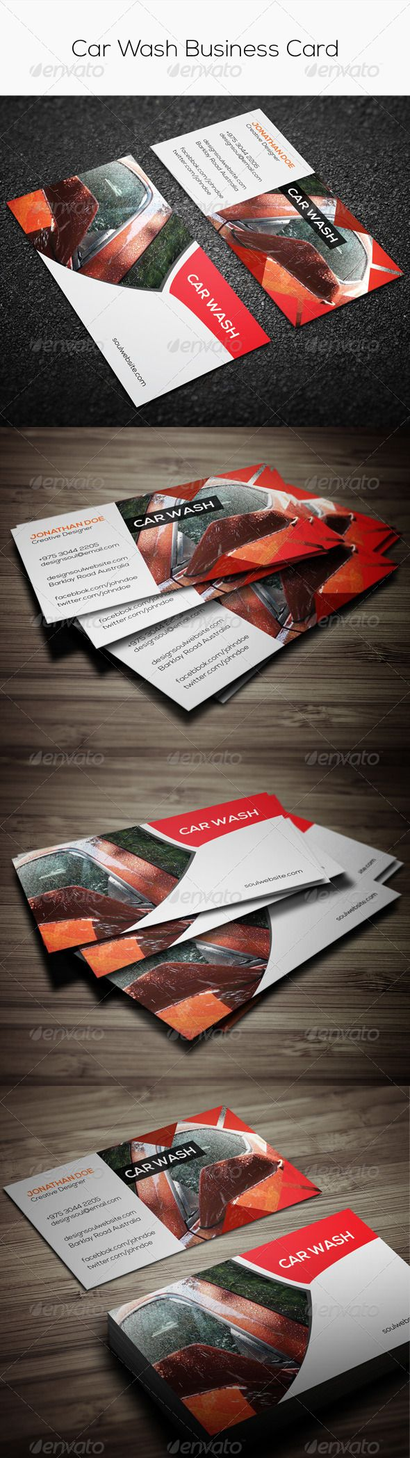 Car wash business card corporate business cards mais