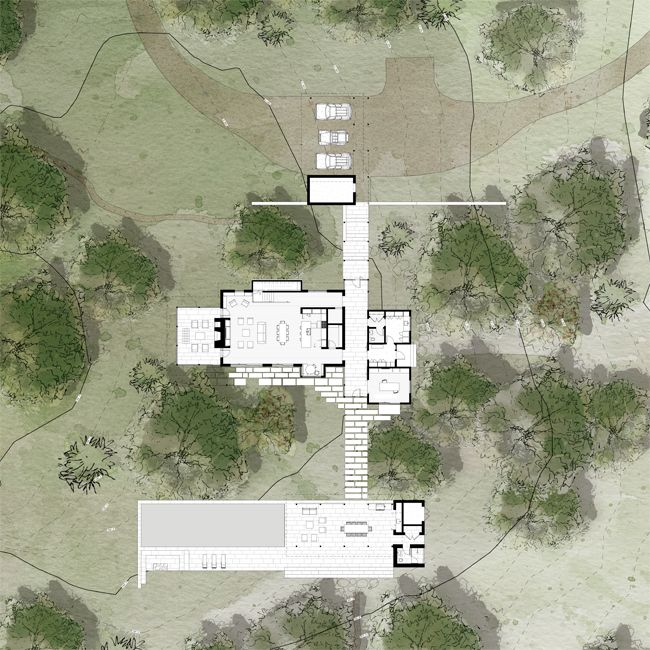 The Cutting House / Lake|Flato #siteplan