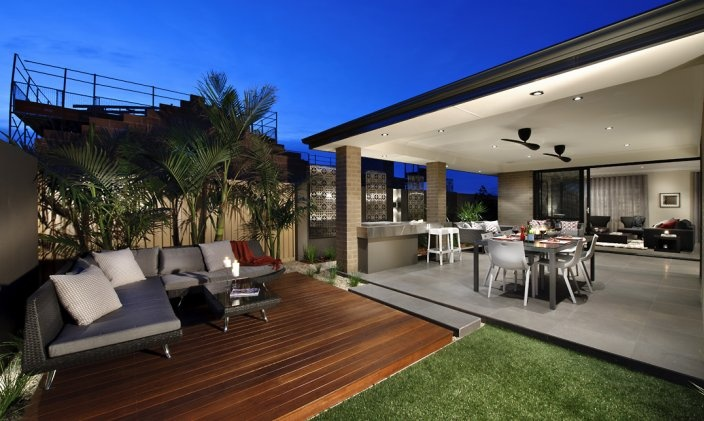 Relaxing alfresco area
