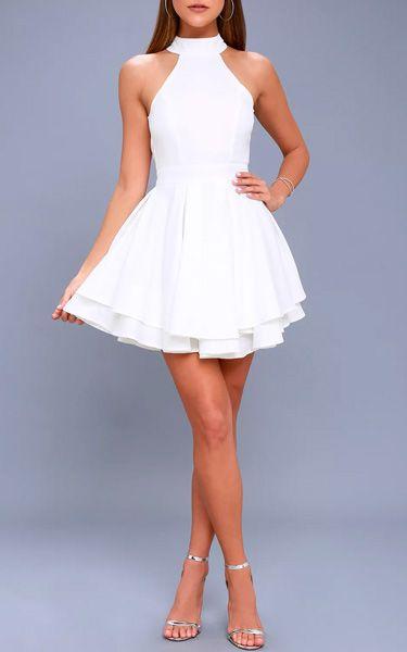 Dress Rehearsal White Skater Dress