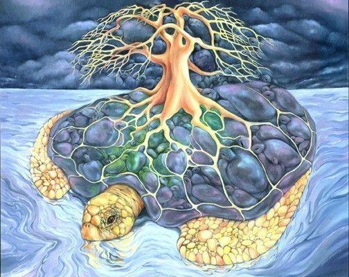Turtle-Tree Mandala - Art Print