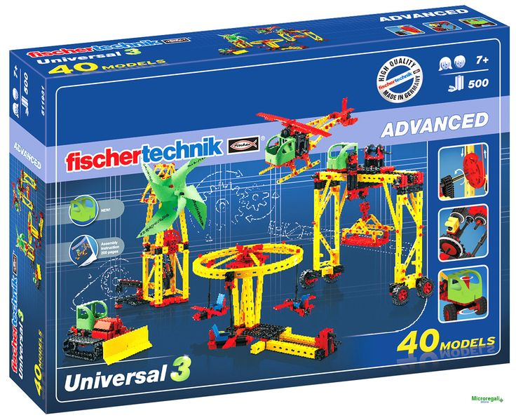 fischertechnik 5511931 set costruzione Universal 40 modelli eta' 7 anni