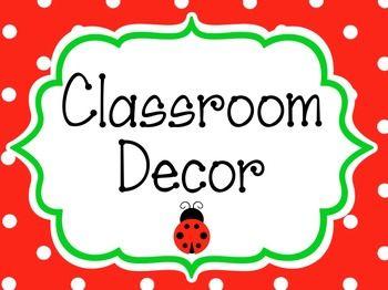 Ladybug Theme Classroom Decor Bundle