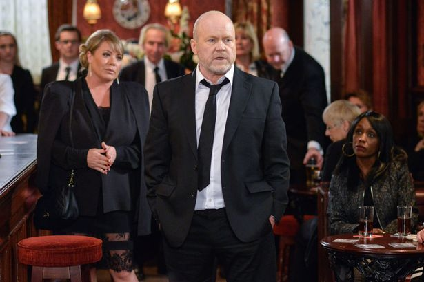 Everyone gathers for Peggy's wake in Eastenders