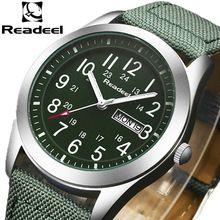 2016 Readeel marca de luxo militar homens relógio de quartzo relógio analógico de couro lona Watch homem relógios desportivos exército montre femme cuir(China (Mainland))