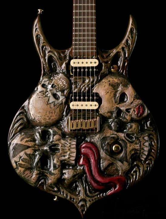 KISS skull guitar