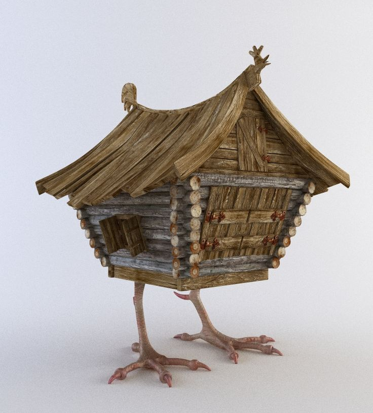Baba Yaga's chicken feet house by Paul Tkachenko