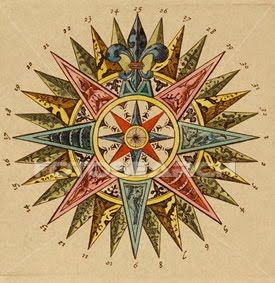 Antique Compass Rose | Compass rose, Compass rose design ...