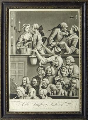 The Laughing Audience by Charles Corbet after William Hogarth