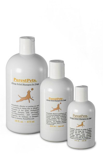 Purest Pets -- Allergy Relief Shampoo for Dogs, Medicated Dog Shampoo, 16-ounce