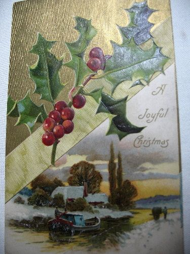 Two Vintage Christmas Post Cards 1 Davidson Bros. by Vintageisnow