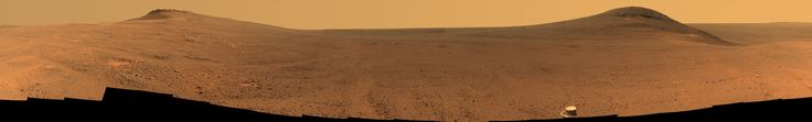 Panorama Above 'Perseverance Valley' on Mars. Opportunity's panoramic camera (Pancam) took the component images for this view from a position outside the crater during the span of June 7 to June 19, 2017, sols 4753 to 4765 of the rover's work on Mars.