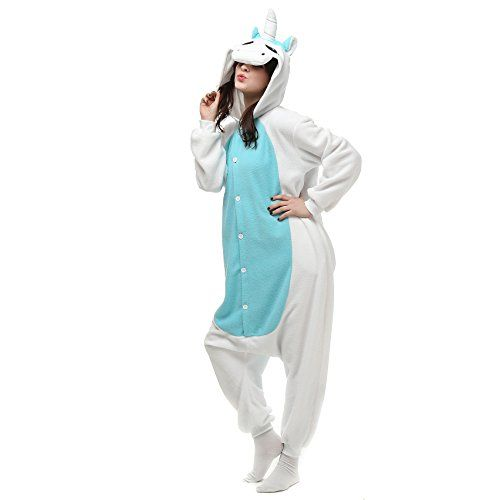 VU ROUL Unisex Adults Costumes Kigurumi Onesie Blue Unicorn Size UK XL -- See this great product.