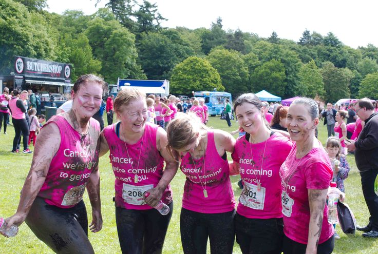 Cancer Research Race For Life - Camperdown Pretty Muddy. The ladies after