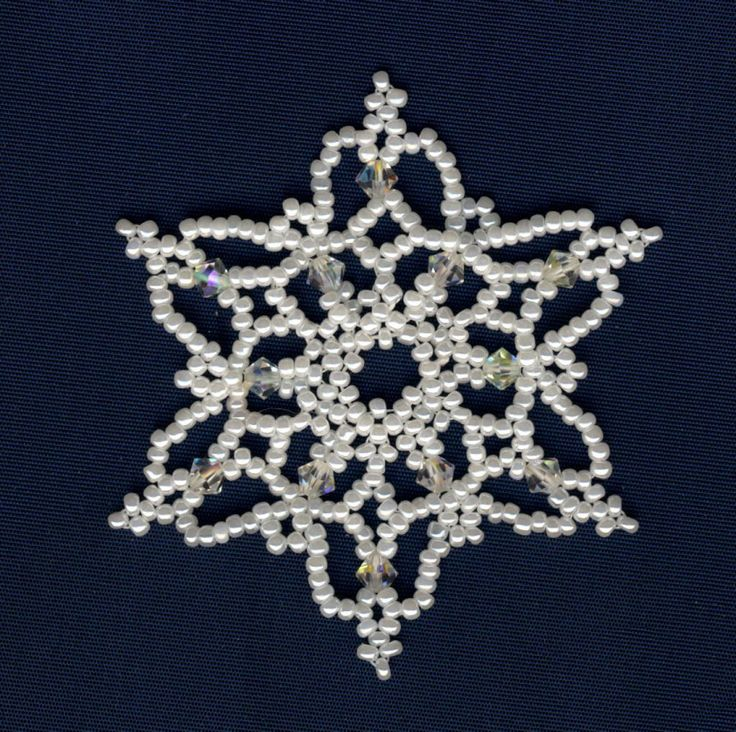 17 best images about beaded snowflakes patterns