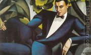 Portrait of the Marquis d'Afflito, 1925  by Tamara de Lempicka (inspired by)