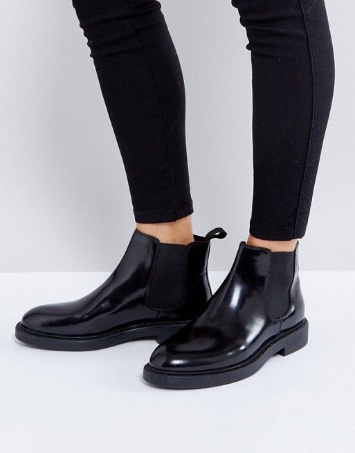 0e41665f342 Vagabond Alex black polished leather Chelsea boot $151 | must have ...
