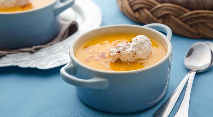 Тыквенный суп-пюре с пряными сливками