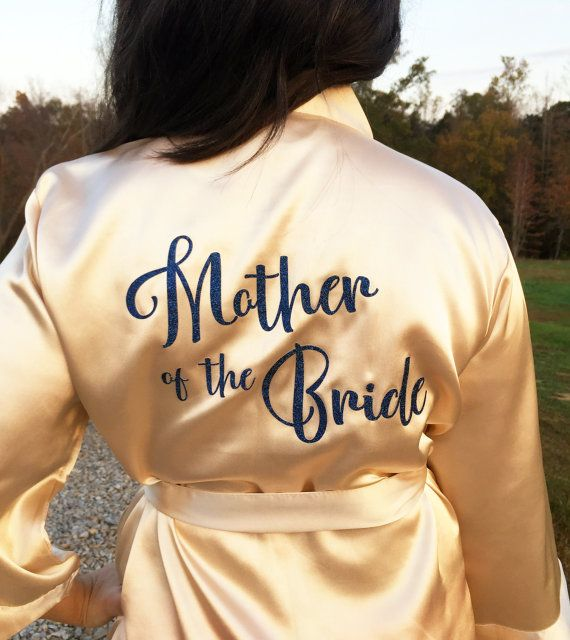 Personalized Bridesmaid Robes Bride Robe Bridal by LilyRoseWedding