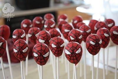 Spiderman Cakepops Pops Kids Boys Party Snacks