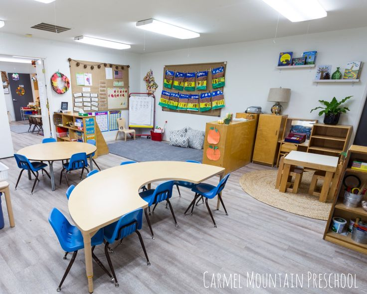 Use neutral tones and colors to create. Calming and clutter free classroom.