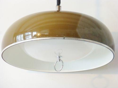 Guzzini lampe suspension monte et baisse 1970 vintage - Table monte et baisse ...
