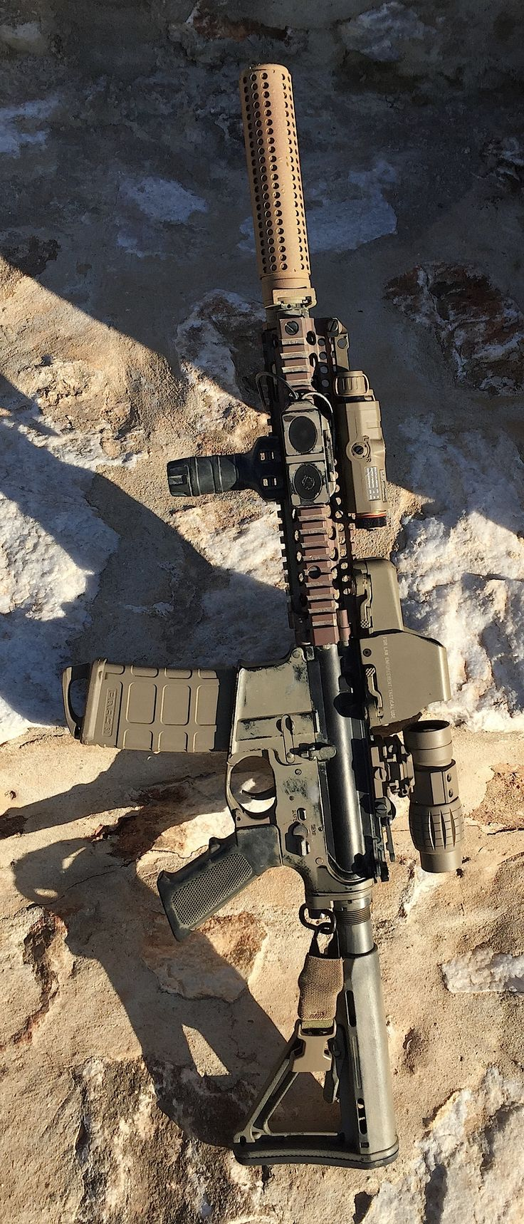M4 CQBR Block II (MK18). #Suppressors make shooting quieter and more enjoyable. And, in spite of the $200 ATF extortion fee, they are legal. http://beardedhermit.com/three-reasons-suppressors-should-be-legal/