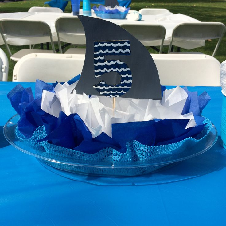 last minute shark centerpiece  not too bad given i only