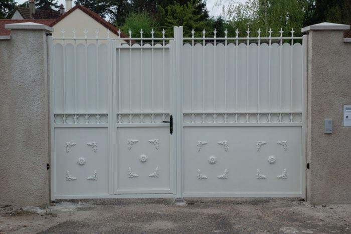 Portail Portillon Integre Recherche Google Iron Gates Gate Design Metal Door