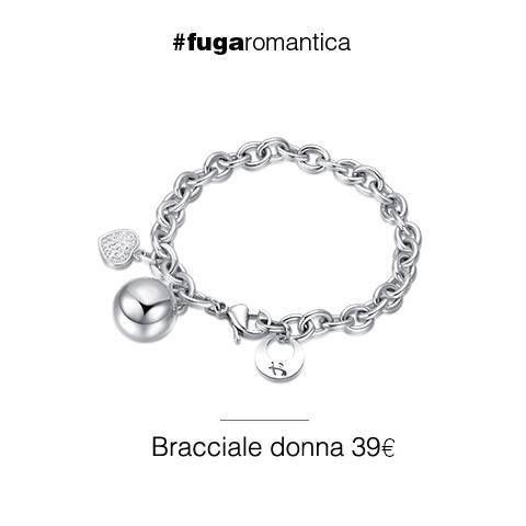 Bracciale in acciaio, con sfera chiama angeli, resina e cristalli bianchi Luca Barra Gioielli. #bracciale #chiamaangeli #lucabarragioielli #cristallibianchi #acciaio