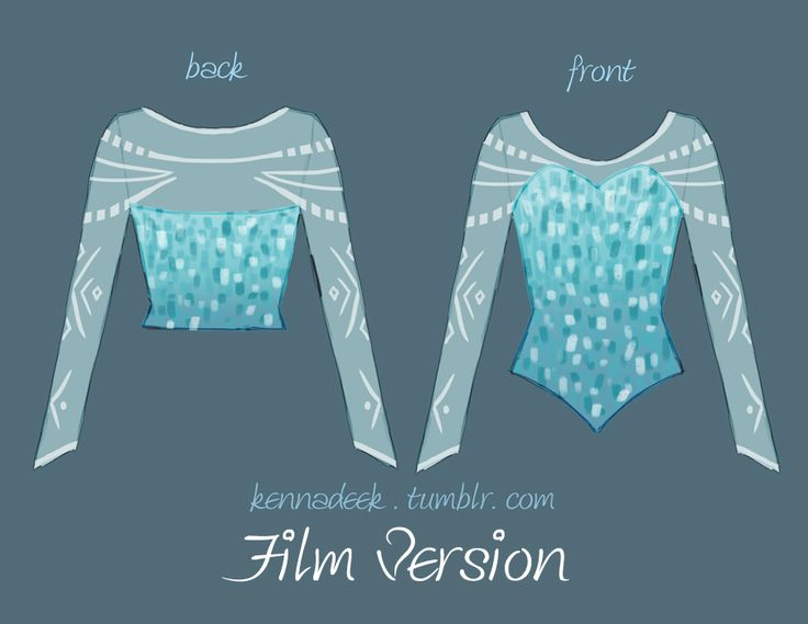 Elsa from Frozen bodice design