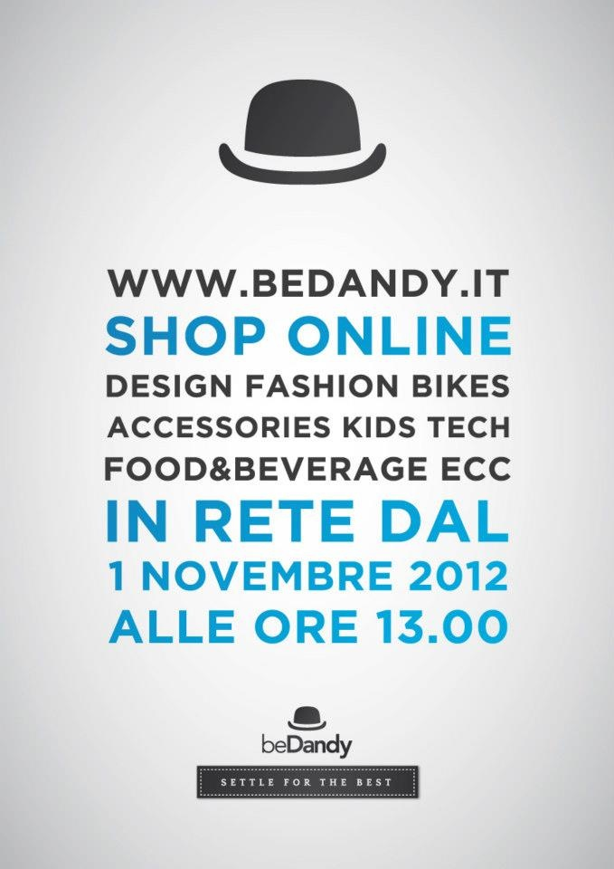 Ideazione dell'immagine grafica del sito web di shop online beDandy.it
