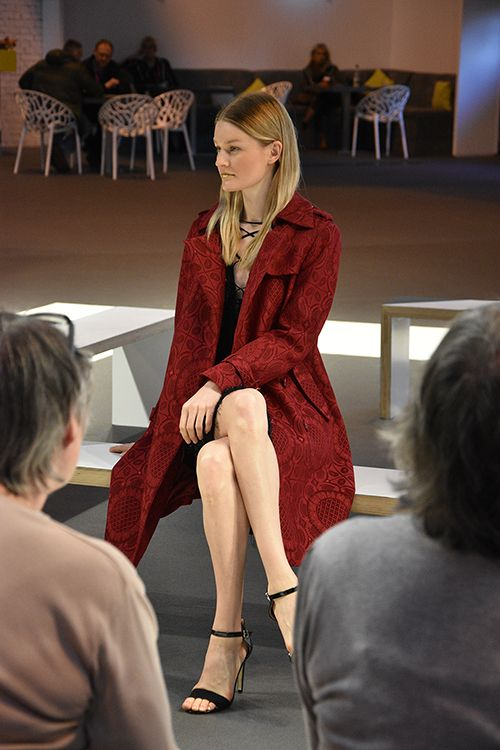 Red Trench Coat  JayLey Catwalk Spring Fair 2016