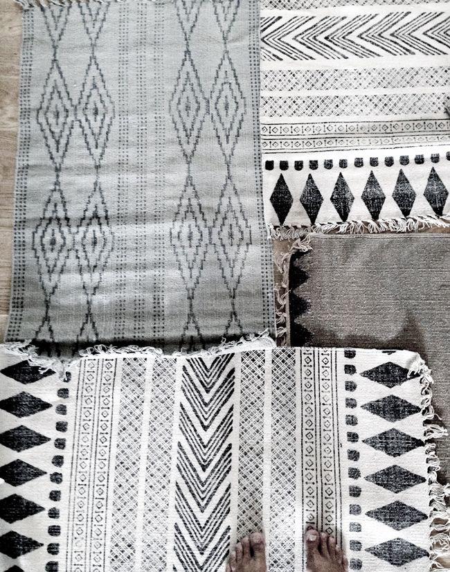 STIL INSPIRATION - House Doctor collage of rugs Le sublime tapis en vente chez parenthese-vintage.fr