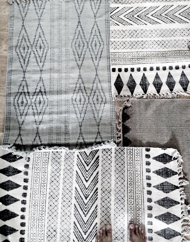 Collage of rugs - STIL inspiration. HOUSE DOCTOR RUGS
